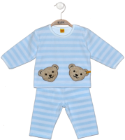 click to see Steiff  Velour Pale Blue & White Set in detail