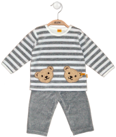 click to see Steiff  Velour Grey & White Set in detail