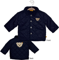 click to see Steiff  Navy Quilted Jacket in detail