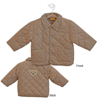 click to see Steiff  Tan Quilted Jacket in detail