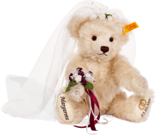 click to see Steiff Personalised Bride Bear - 29cm in detail