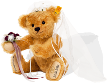 click to see Steiff Personalised Bride Bear in detail