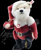 click to see Steiff  Santa Christmas Musical Teddy Bear in detail