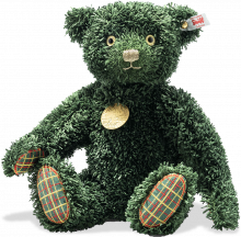 click to see Steiff  Green Sustainably Made Christmas Teddy in detail