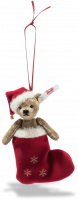 click to see Steiff  2020 Christmas Teddy Bear Ornament in detail