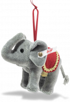 click to see Steiff  Christmas Elephant Ornament in detail