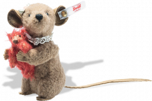 click to see Steiff Xenia Mouse With Red Bear in detail
