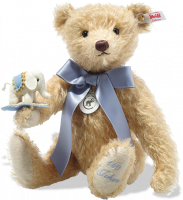 click to see Steiff Teddy Bear With Little Elephant in detail