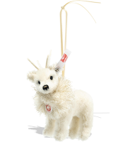 click to see Steiff  Winter Reindeer Ornament in detail