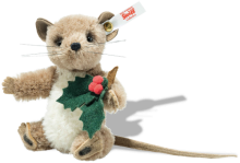 click to see Steiff Holly Mouse - Sweet For Christmas in detail