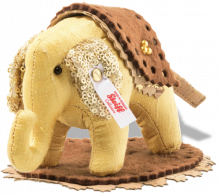 click to see Steiff Designer's Choice Little Elephant With Sequined Ears! in detail