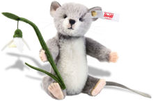 click to see Steiff  Lena Mouse - With Elegant Snowdrop in detail