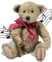 click to see Steiff Anton Christmas Musical Teddy Bear in detail