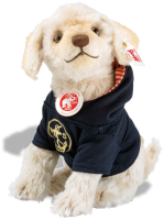 click to see Steiff Nautical Nicky Dog - He Is Looking At You.. in detail