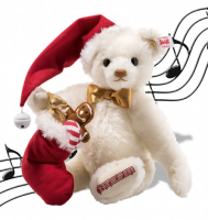 click to see Steiff Christmas Collectible Musical Bear in detail
