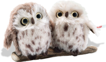 click to see Steiff  Owl Set - Two Very Happy Owls in detail