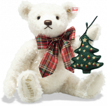 click to see Steiff  Christmas Musical Bear - Plays '0 Tannenbaum' in detail