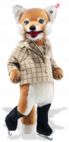 click to see Steiff  Fox Ice Skater in detail