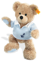 click to see Steiff  Fynn Teddy Bear With T-shirt in detail