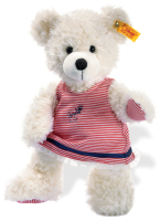 click to see Steiff  Lotte Teddy Bear With A Dress in detail