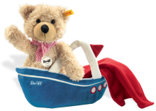 click to see Steiff  Charly Teddy Bear With Bag/towel in detail