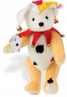 click to see Steiff  Joker Teddy Bear in detail