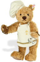 click to see Steiff  Christmas Baker Teddy Bear in detail