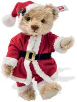 click to see Steiff  Mr Claus Teddy Bear -dressed To Enjoy A Special Time! in detail