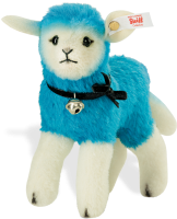 click to see Steiff  Designer's Blue Candy Lamb in detail