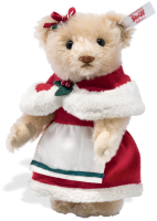 click to see Steiff Mrs Claus Teddy Bear - Let's Have Fun, Fun And Fun! in detail