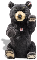 click to see Steiff Black Bear - Made From Superb Black Alpaca in detail