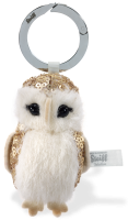 click to see Steiff  Owl Keyring - A Wise Old Bird in detail