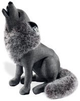 click to see Steiff  Selection Graphite Wolf in detail
