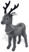 click to see Steiff  Graphite Stag With Swarovski Element Necklace in detail