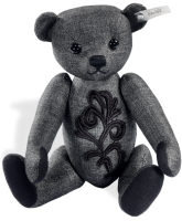click to see Steiff  Graphite Bear Made From High Quality Wool in detail