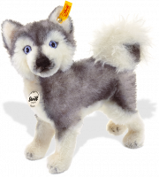 click to see Steiff  Hasso Husky in detail