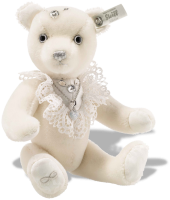 click to see Steiff  Bride Teddy Bear in detail