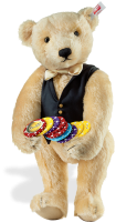 click to see Steiff  'croupier' Teddy Bear in detail