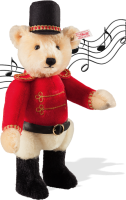 click to see Steiff  Famous 'musical' Teddy Bear - Elegantly Dressed! in detail