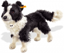 click to see Steiff  Benny Border Collie in detail