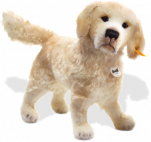 click to see Steiff  Rico Golden Retriever in detail