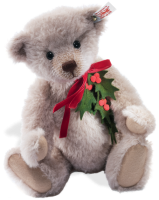 click to see Steiff  Holly Christmas Bear - Made From Alpaca in detail