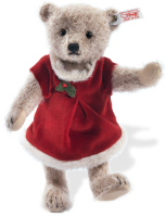 click to see Steiff  Romy Bear - In Her Christmas Party Dress in detail