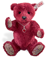 click to see Steiff  Ruby Bear in detail