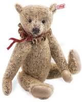 click to see Steiff  'millie' Bear - With Velvet And Felt Collar in detail