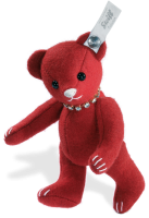 click to see Steiff  Red Felt Teddy Bear in detail