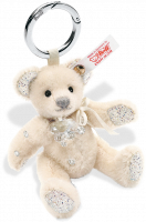 click to see Steiff  Crystal Teddy Bear Bag Pendant (white) in detail