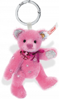 click to see Steiff  Crystal Teddy Bear Bag Pendant (pink) in detail