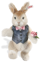click to see Steiff  Valentin Rabbit Made From Alpaca in detail