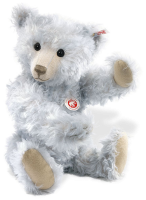 click to see Steiff  'ice' - Pale Blue Mohair Bear in detail